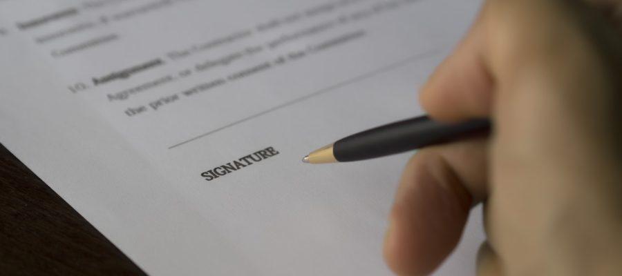 conditions générales de vente à signer